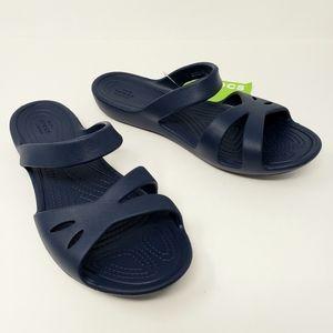 Crocs Navy Kelli Sandals Iconic Comfort Shoes